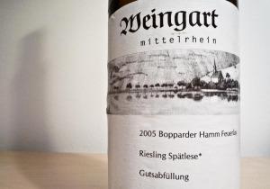 Weingart Bopparder Hamm Feuerlay Riesling Spätlese (1 von 1)
