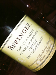 Beringer Howell Mountain Merlot, 1996 (100 von 1)