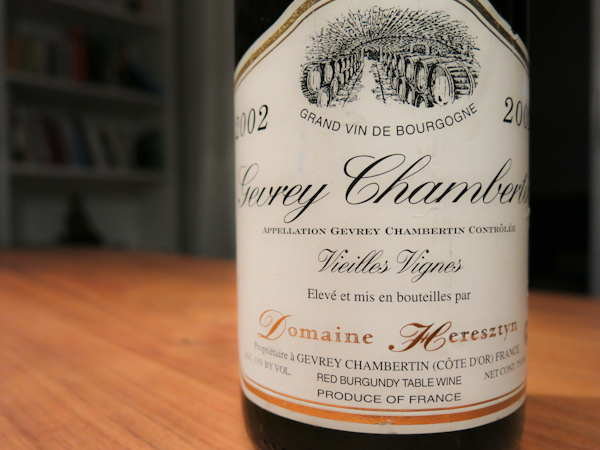 Heresztyn Gevrey-Chambertin Vieilles Vignes, 2002 (100 von 1)